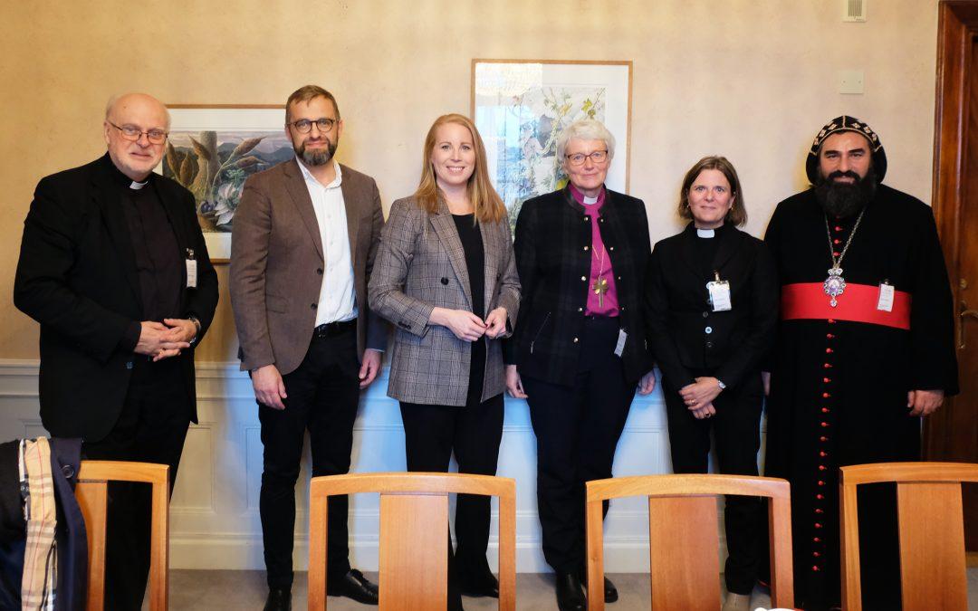 Sveriges kristna råd uppvaktar partiledarna inför valet